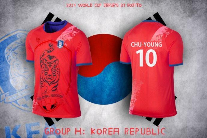 Blog da Copa - design camisa da Coreia do Sul