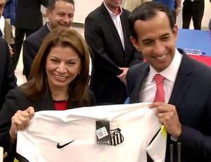 Santos camisa Costa Rica (Foto: Reprodução / TV Tribuna)