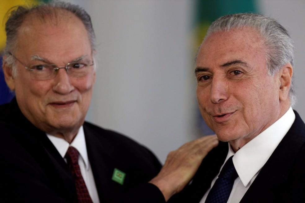 Roberto Freire e o presidente Michel Temer (Foto: Ueslei Marcelino/Reuters)