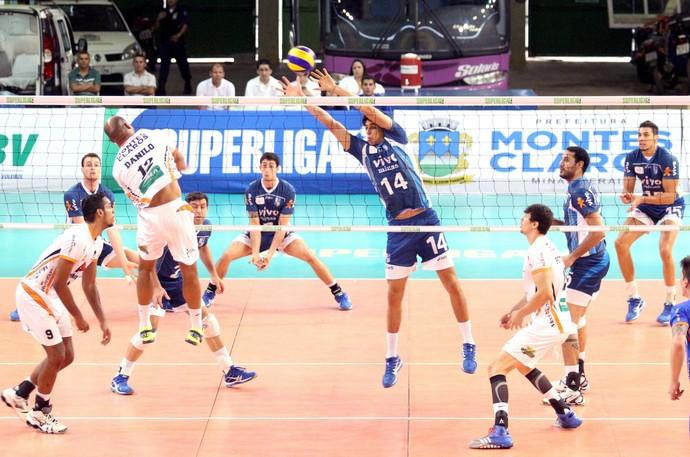 Montes Claros Vôlei está na 9ª posição no ranking da Superliga Masculina. (Foto:  Solon Queiroz )