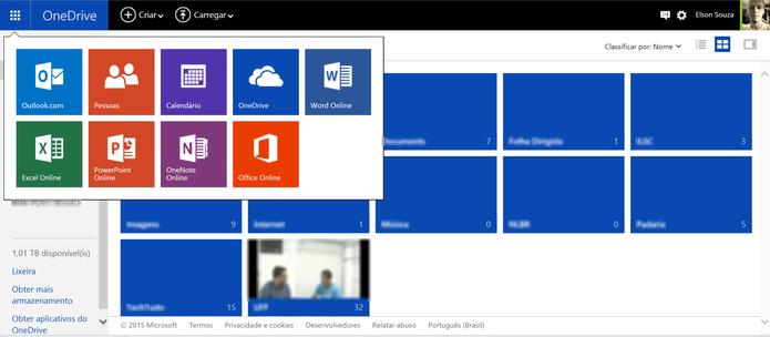 Office Online pode ser acessado a partir do OneDrive ou do Outlook.com (Foto: Reprodução/Elson de Souza)