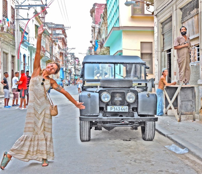 Linda, Bruna curte Cuba (Foto: Arquivo pessoal)