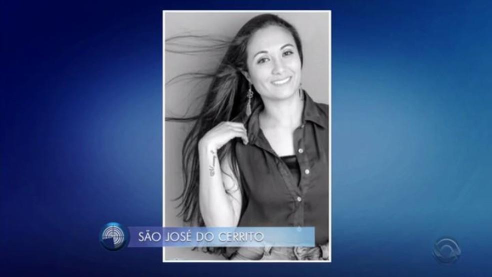 Elenice Cezar Ribeiro foi morta a tiros por Gilmar Madruga (Foto: Reprodução/RBS TV)