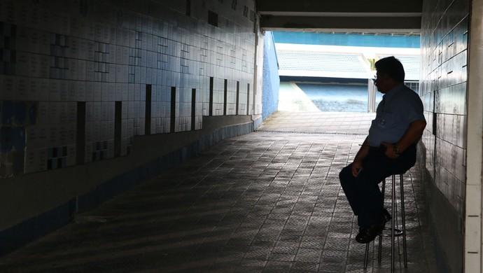 Treino fechado do Grêmio no Olímpico (Foto: Diego Guichard)