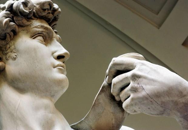 A estátua David, de Michelangelo, está exposta no Museo de la Academia em Florença, na Itália (Foto: Franco Origlia/Getty Images)