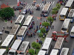 greve ônibus Belém (Foto: Marcelo Seabra/O Liberal)