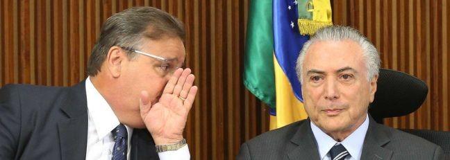 Geddel Vieira Lima e Michel Temer (Foto: Orlando Brito)