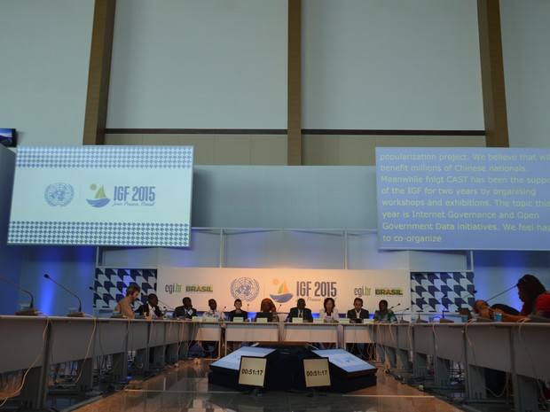 Transparência em dados governamentais é discutida em workshop no IGF 2015 (Foto: Diogo Almeida/G1)