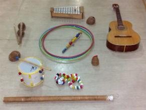 Instumentos que podem ser utilizados na musicoterapia (Foto: Divulgação)