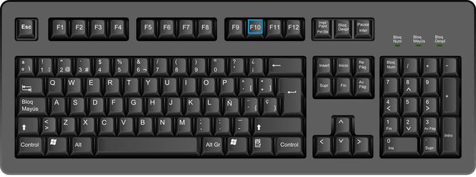 F10 serve para ativar a barra de menus de um programa aberto (Foto: Arte/TechTudo)