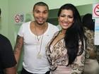 Naldo e Moranguinho vão a show de funk no Rio