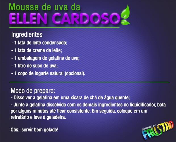 Mousse de uva (Foto: Domingão/ TV Globo)