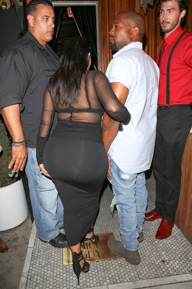 Kim Kardashian com Kanye West (Foto: AKM-GSI)