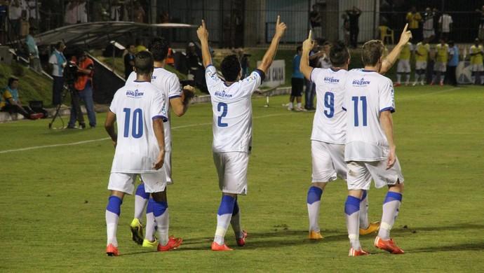 ABC x Paysandu - comemoração Paysandu (Foto: Fabiano de Oliveira)