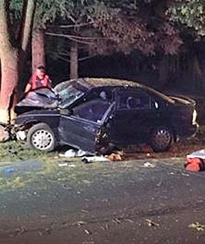 Acidente em Auburn (Foto: Polícia de Auburn)