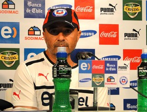 Jorge Sampaoli treinador do UNiverdad de Chile (Foto: Tarcísio Badaró)