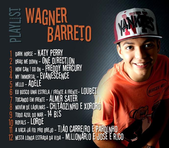 Playlist Wagner Barreto The Voice Kids  (Foto: Arte RPC / Foto: Elvis Costa)