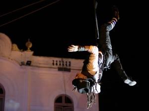 Circo internacional chamou atenção por performace contemporânea (Foto: Jonathan Lins/G1)