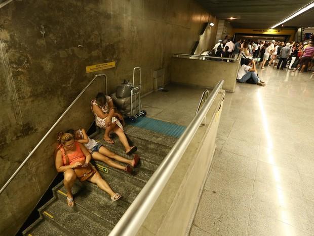 Movimentação na estação República do Metrô de São Paulo (Foto: André Lucas Almeida/Futura Press/Estadão Conteúdo)