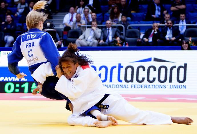 Judô Rafaela Silva e Pavia mundial (Foto: Rafael Burza/CBJ)