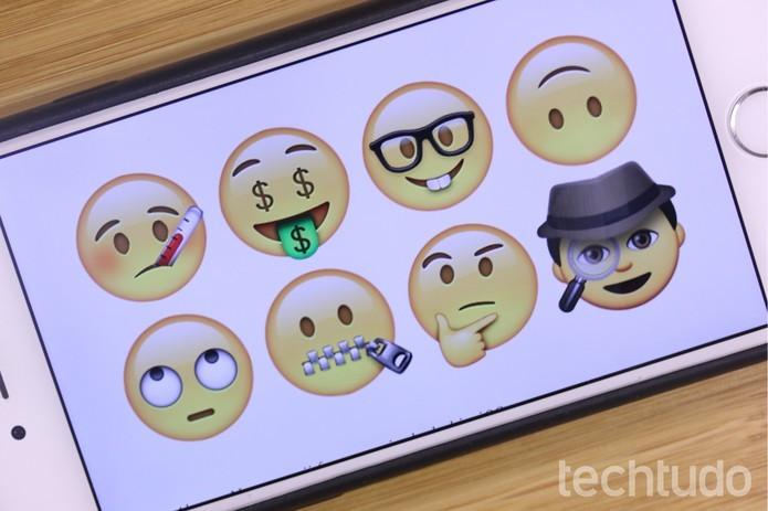iOS 9 traz 13 novas versões de emoji (Foto: Lucas Mendes/TechTudo)