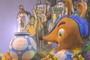 Mascote da Copa, Fuleco foi lembrado pela Leandro (Flavio Moraes/G1)