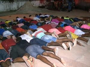 81 foram detidos suspeitos de integrar facção criminosa em São Luís (Foto: Reprodução / TV Mirante)