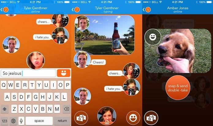 Esqueça emoticons, React Messenger permite que você use selfies para se comunicar (Foto: Divulgação/AppStore)