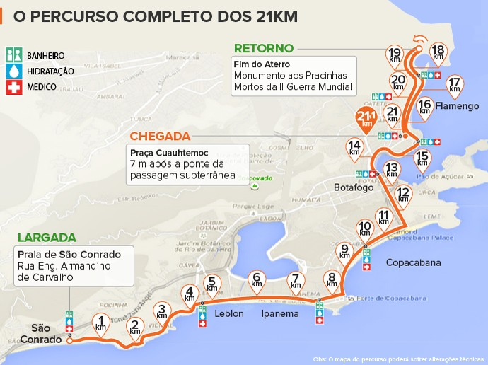 euatleta_Mapa Meia Maratona_2016 (Foto: Eu Atleta | Arte Info)