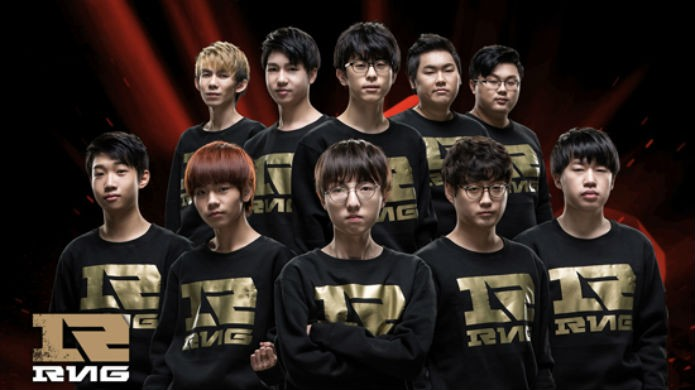 Os jogadores do RNG (Foto: Reprodução/Esportspedia)