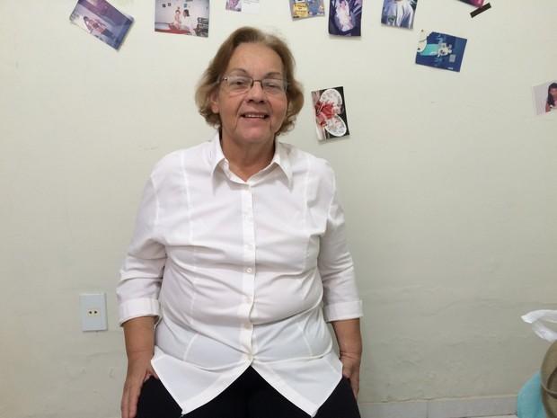 A alagoana Márcia Oliveira sobreviveu a transplante duplo de órgãos (Foto: Pedro Mesquita/G1)