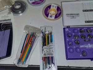 Outros materiais que foram achados com o dentista em Itapetinga (Foto: Divulgação/CRO-BA)