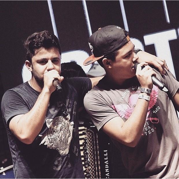Cristiano Araújo e o irmão, Felipe (Foto: Reprodução / Instagram)