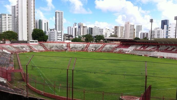 estádio dos Aflitos abandonado (Foto: Divulgação)