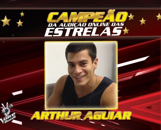 arthur campeão audiçãodas estrelas (Foto: gshow)