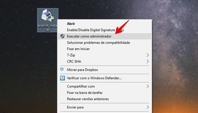 Execute o app como administrador (Foto: Reprodução/Helito Bijora)  (Foto: Execute o app como administrador (Foto: Reprodução/Helito Bijora) )