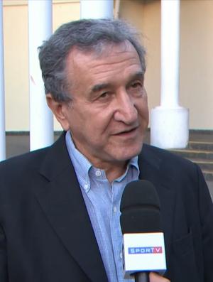 Carlos Alberto Parreira na missa do Capita (Foto: Reprodução SporTV)