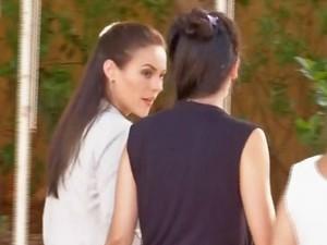 Paolla Oliveira em gravação de longa-metragem em MS (Foto: Reprodução/ TV Morena)