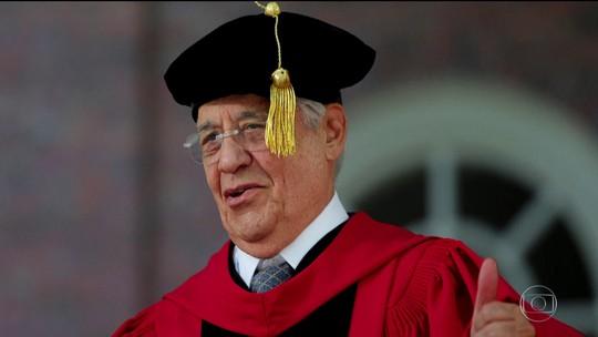 FHC recebe título honoris causa da Universidade de Harvard, nos EUA