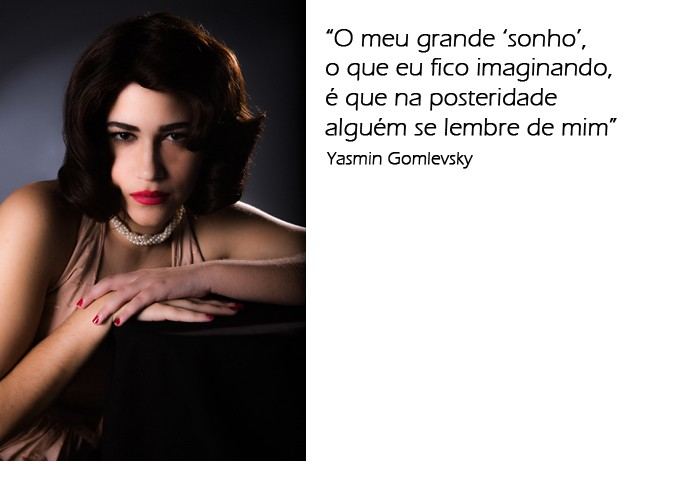 Yasmin Gomlevsky sobre sonho de ser referência (Foto: Fábio Rocha / Gshow)