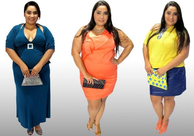 A pedido do G1, modelo montou três looks para mulheres acima do peso (Foto: Mariane Rossi/G1)