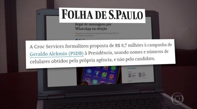 Empresa ofereceu impulsionamento ilegal de mensagens a Alckmin, revela Folha de S. Paulo