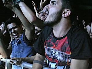 Público durante show do Kiss em Brasília (Foto: Gustavo Schuabb/G1)