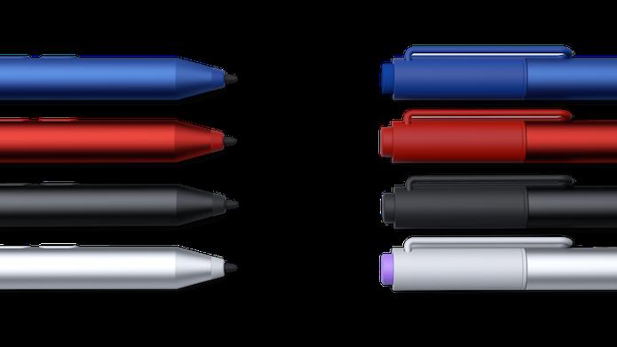 Canetas disponíveis para o Surface 3 (Foto: Divulgação/Microsoft)