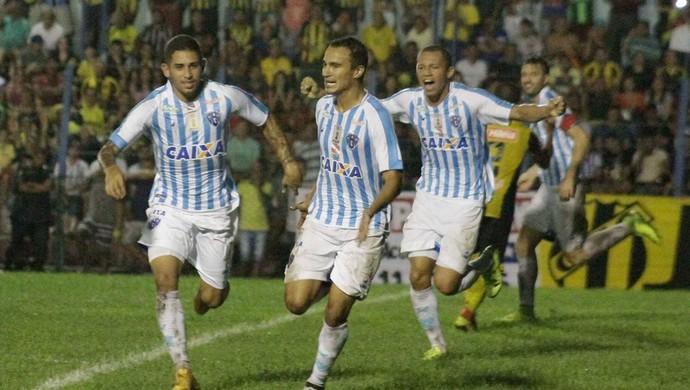 Bergson saiu comemorando o gol (Foto: Fernando Torres / Ascom Paysandu)