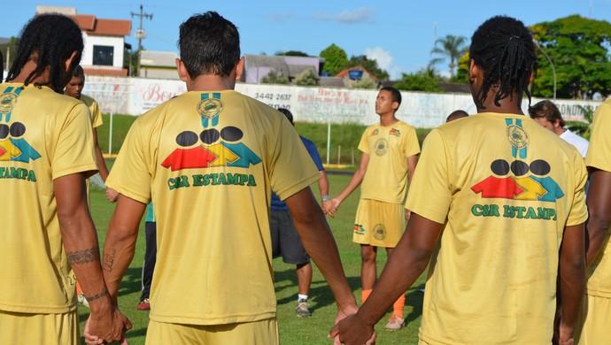 Jogadores do Rolim de Moura 2014 (Foto: Magda Oliveira)