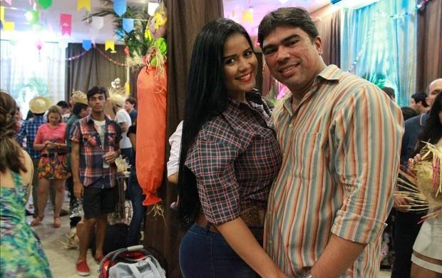 Rodrigo Bagre se diverte durante a festa (Foto: Katiúscia Monteiro/ Rede Amazônica)
