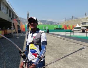 Andrés Pila evento-teste tiro com arco Rio (Foto: Amanda Kestelman)