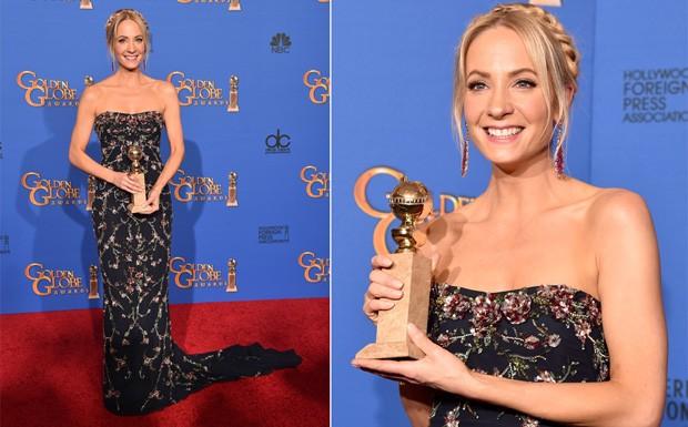 Joanne Froggatt leva o Globo de Ouro 2015 de 'Melhor atriz coadjuvante em srie'. (Foto: Getty Images)
