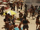 Praias do Rio têm policiamento reforçado, mas chuva afasta banhistas
